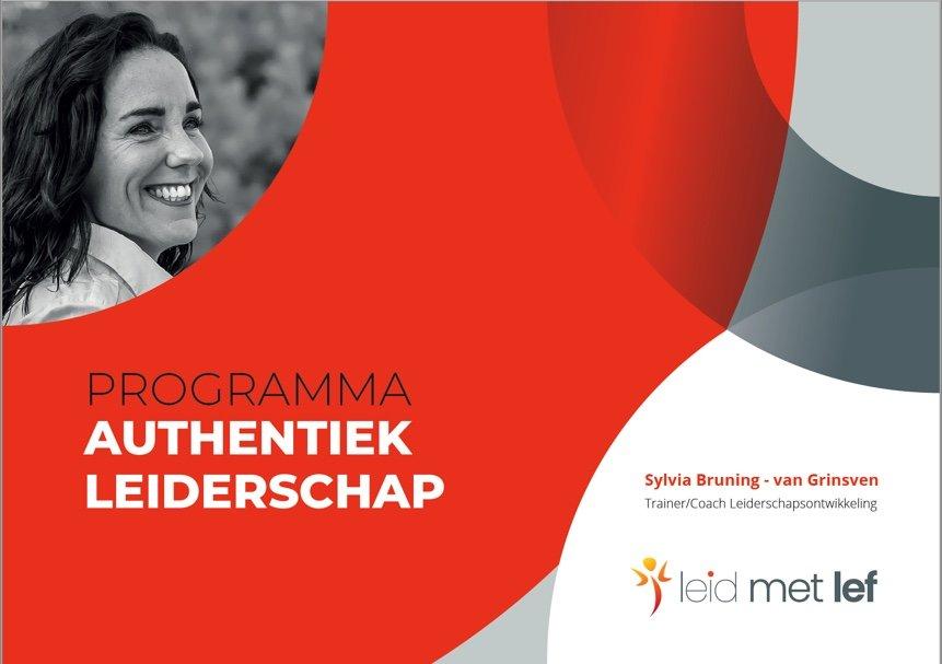 Brochure live training Authentiek Leiderschap van Leid met Lef