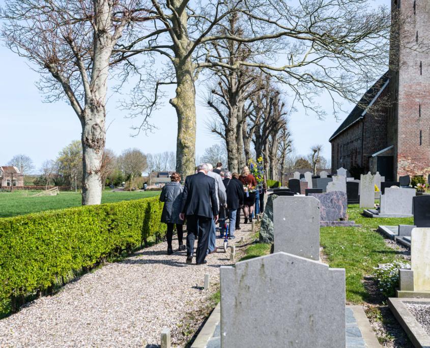 Uitvaartfoto's tijdens begrafenis