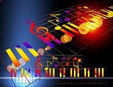 pianotoetsen met noten rechtenvrij 3