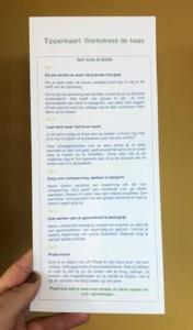 Tippenkaart: Werkstress de baas