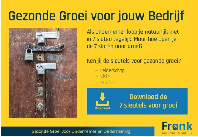 Frank Business Consulting 7 sleutels voor groei